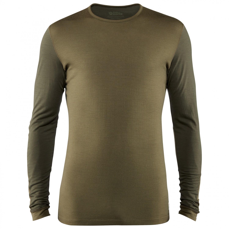 2ff7467b Fjällräven Keb Wool T-Shirt L/S - Merino Base Layer Men's   Free UK ...
