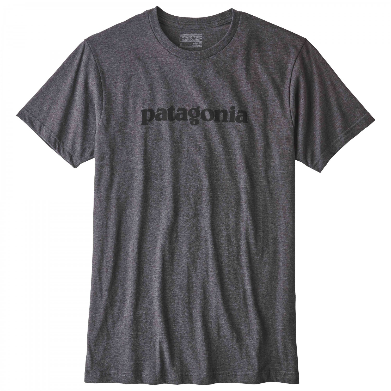 Spiderwire Logo Design T Shirt Size Medium Polyester: Patagonia Text Logo Cotton/Poly T-Shirt