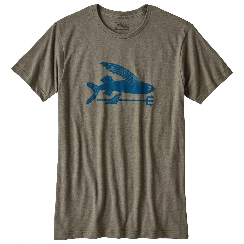 Patagonia flying fish cotton poly t shirt t shirt men 39 s for Patagonia fishing shirt