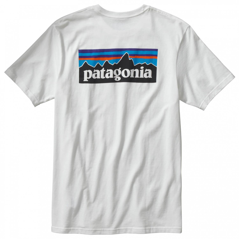 Spiderwire Logo Design T Shirt Size Medium Polyester: Patagonia P-6 Logo Cotton T-Shirt - T-Shirt Men's