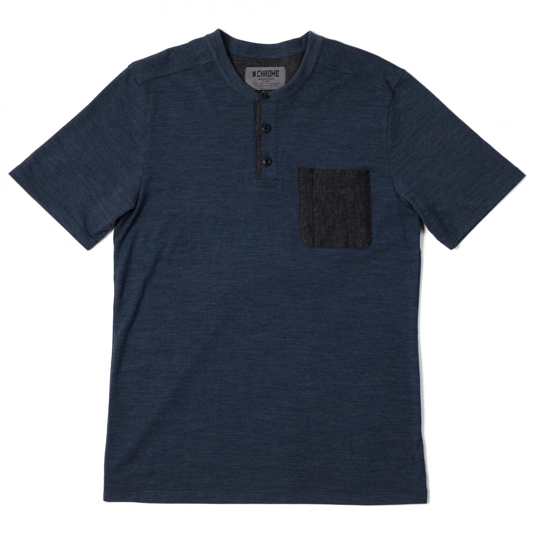 Chrome S S Merino Henley T Shirt Men 39 S Free Uk