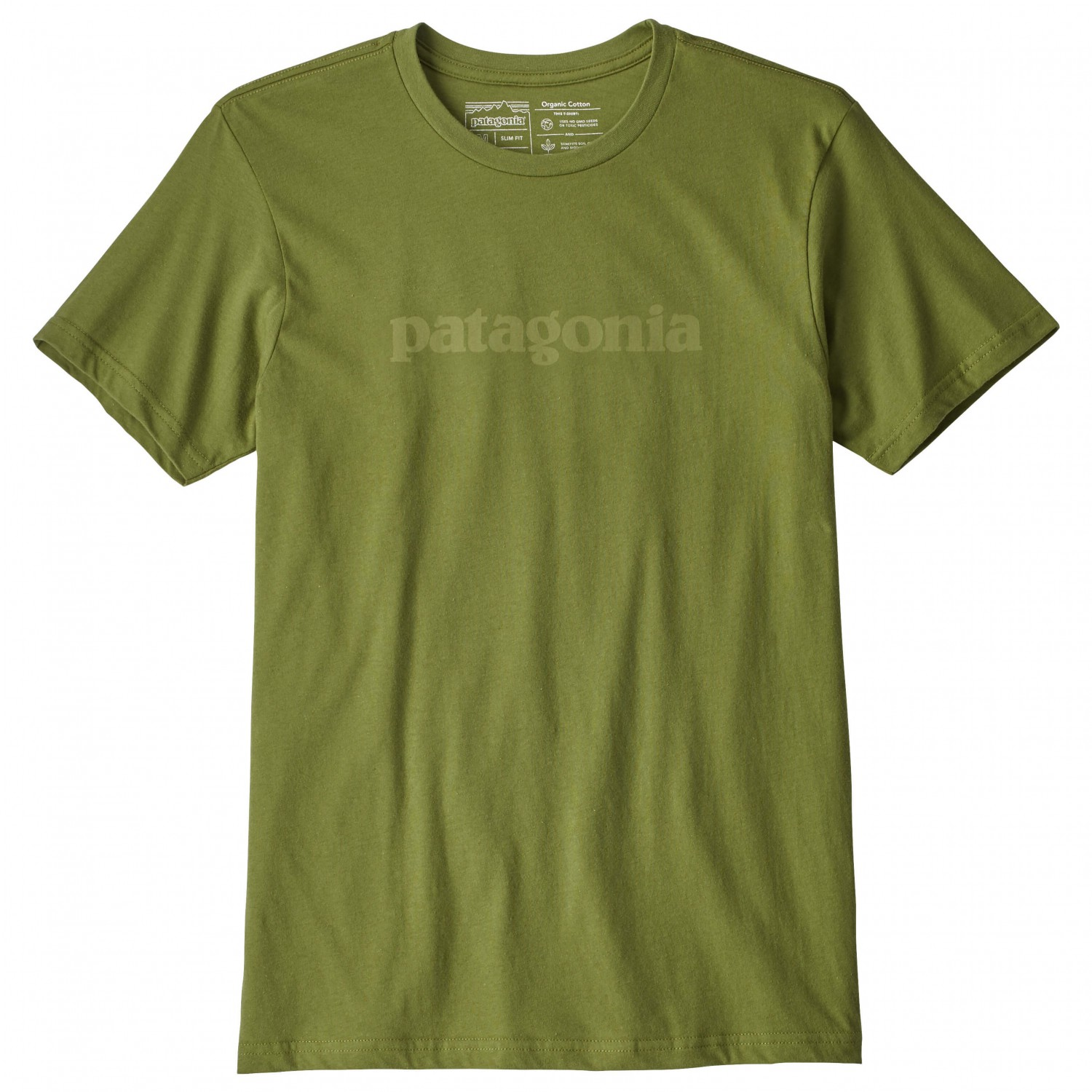 Patagonia text logo organic t shirt t shirt homme for Photo t shirts with text