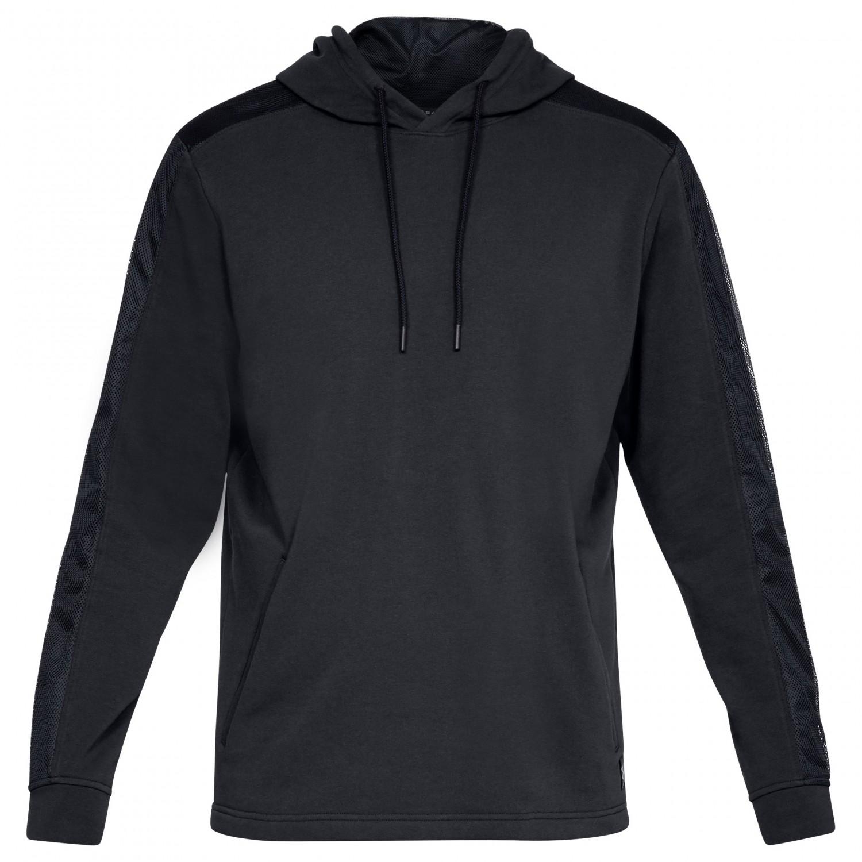 329e72e1f4 Under Armour - Threadborne Terry Pullover Hoodie - Sport shirt - Black /  Black | S
