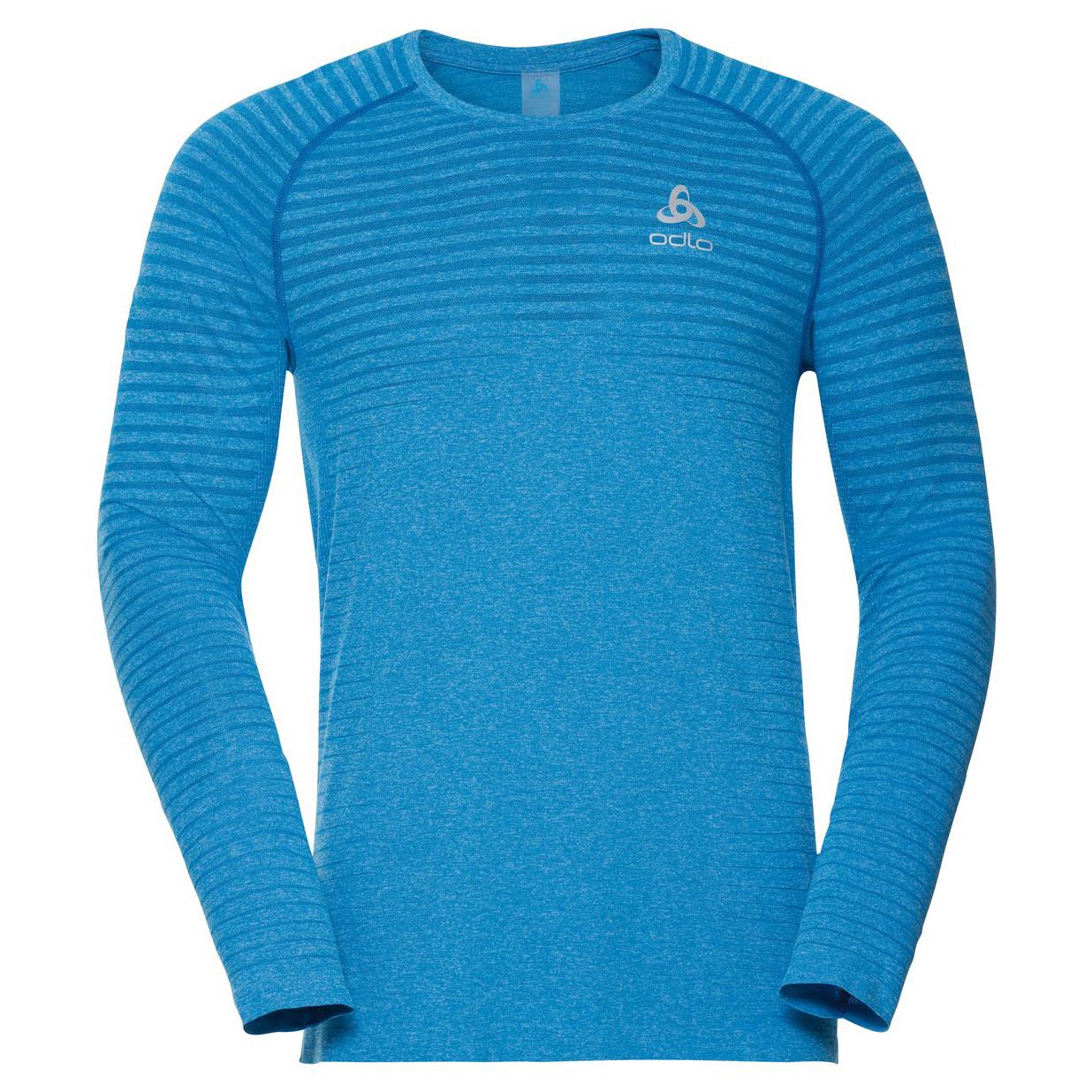 Hombre Odlo T-Shirt L//S Crew Neck Seamless Element Camiseta