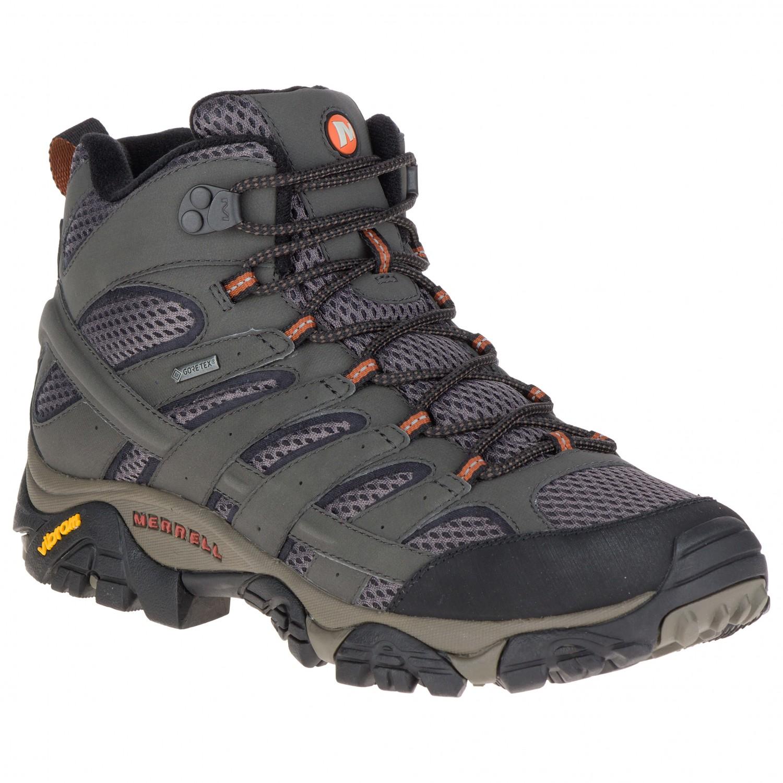 la plus récente technologie les dernières nouveautés en arrivant Merrell - Moab 2 Mid GTX - Chaussures de randonnée - Black | 42 (EU)
