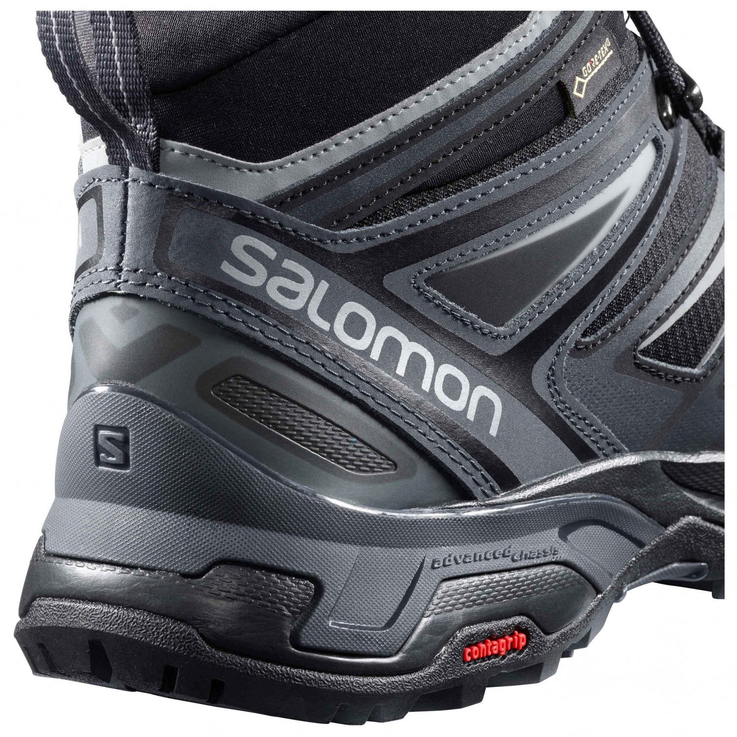 Salomon X Ultra 3 Mid GTX Wanderschuhe Castor Gray Black Green Sulphur | 7 (UK)
