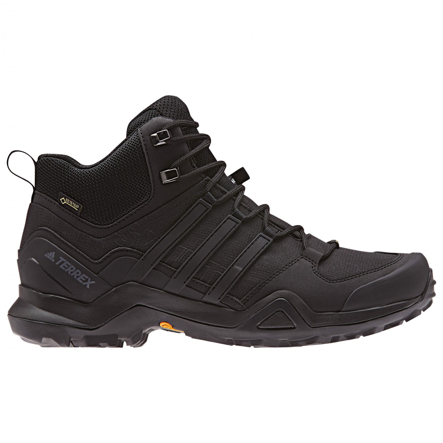 adidas Terrex Swift R2 Mid GTX Wanderschuhe Core Black Solar Red Signal Green | 7,5 (UK)