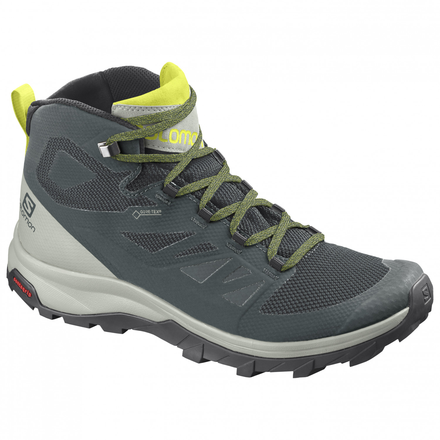 Salomon - Outline Mid GTX - Botas de trekking - Green Gables / Mineral Gray  / Evening Primrose | 7 (UK)