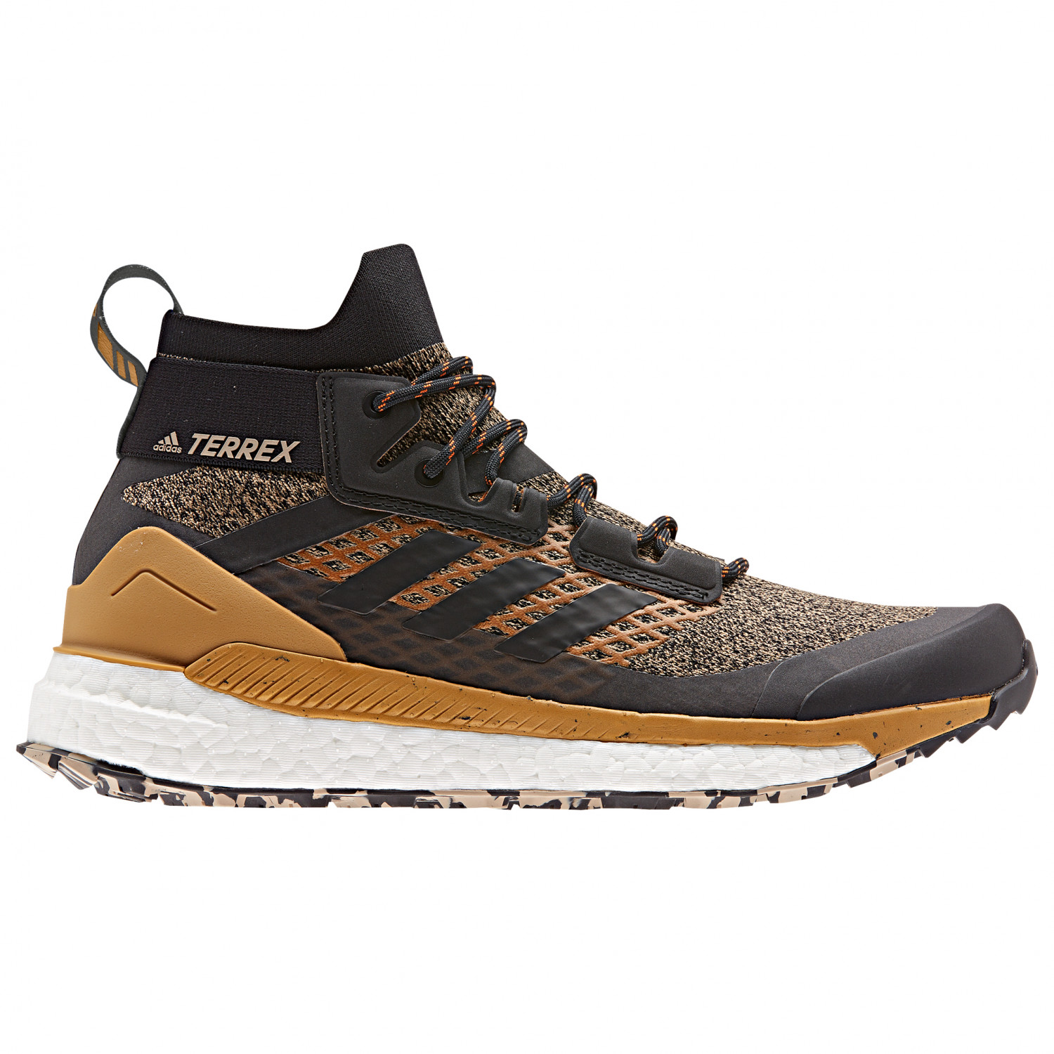 adidas Terrex Free Hiker Wanderschuhe Core Black Grey Six Active Orange | 7,5 (UK)