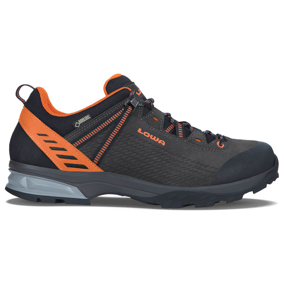 Lowa - Arco GTX Lo - Wanderschuhe Anthrazit / Orange