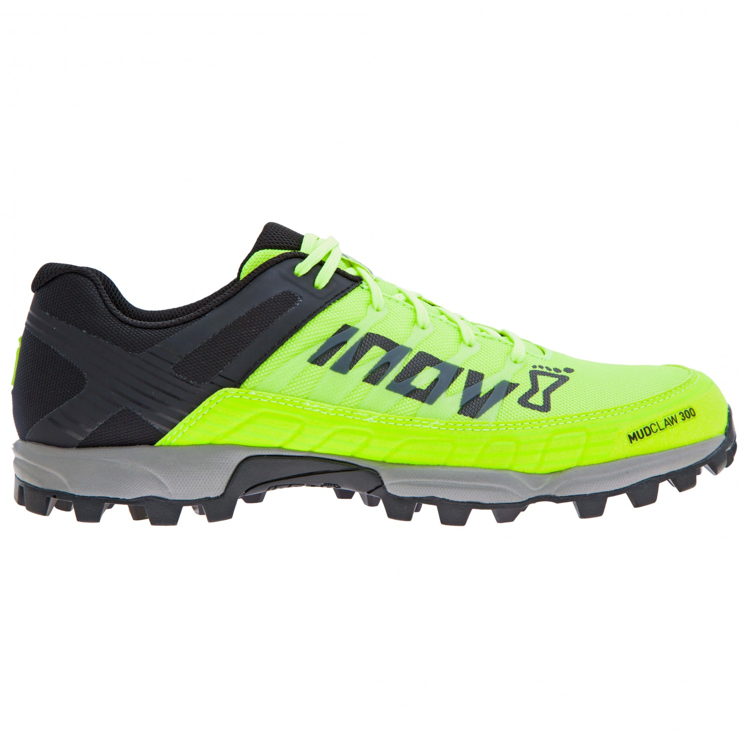 Inov-8 MUDCLAW 300 - Trail running shoes - neon yellow/black/grey ZiIK9t