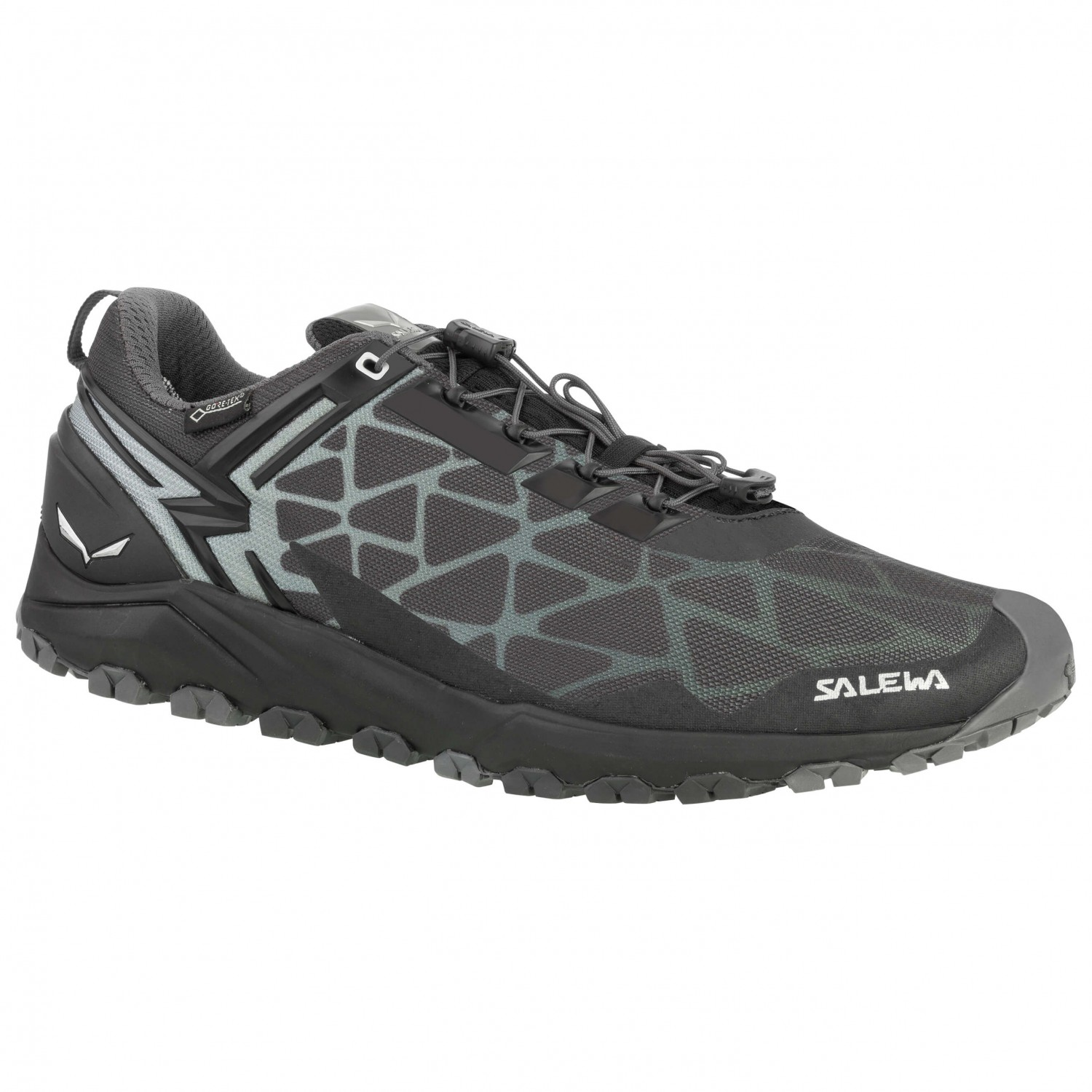 Men Running Shoes : Salewa (Men) Black/Silver Shoes Online