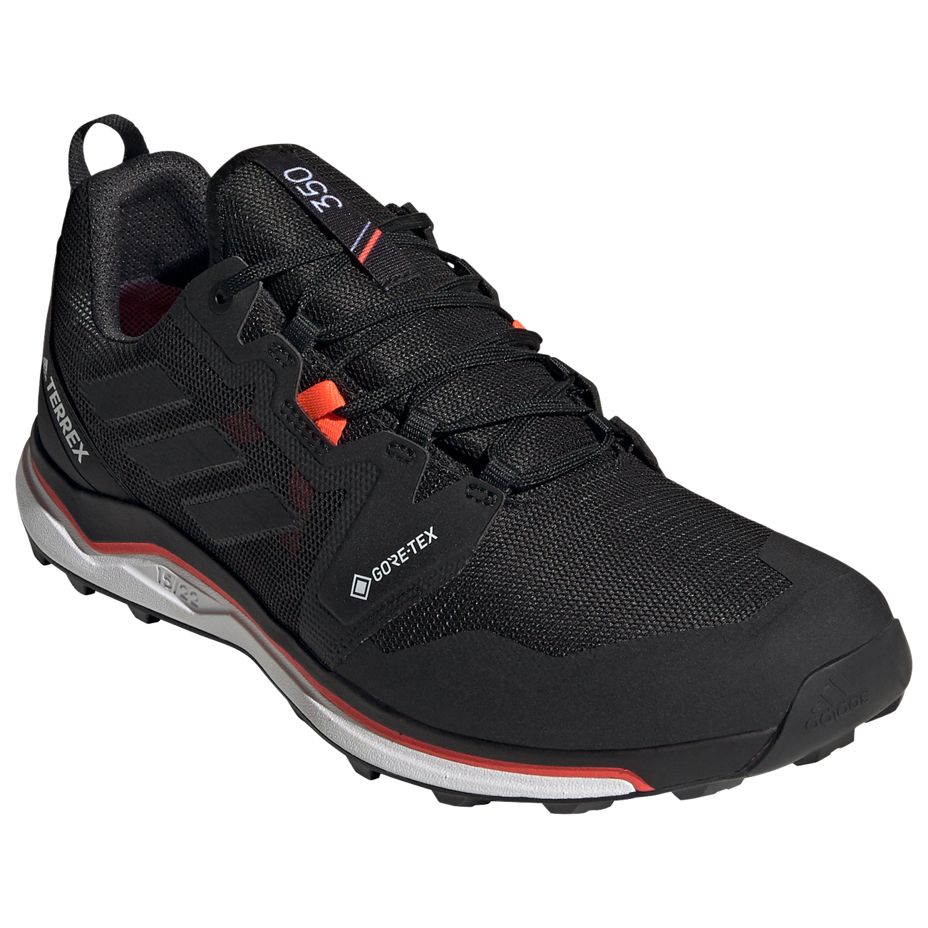 adidas - Terrex Agravic GTX - Trail running shoes - Core Black / Crystal White / Solar Red | 7,5 (UK)