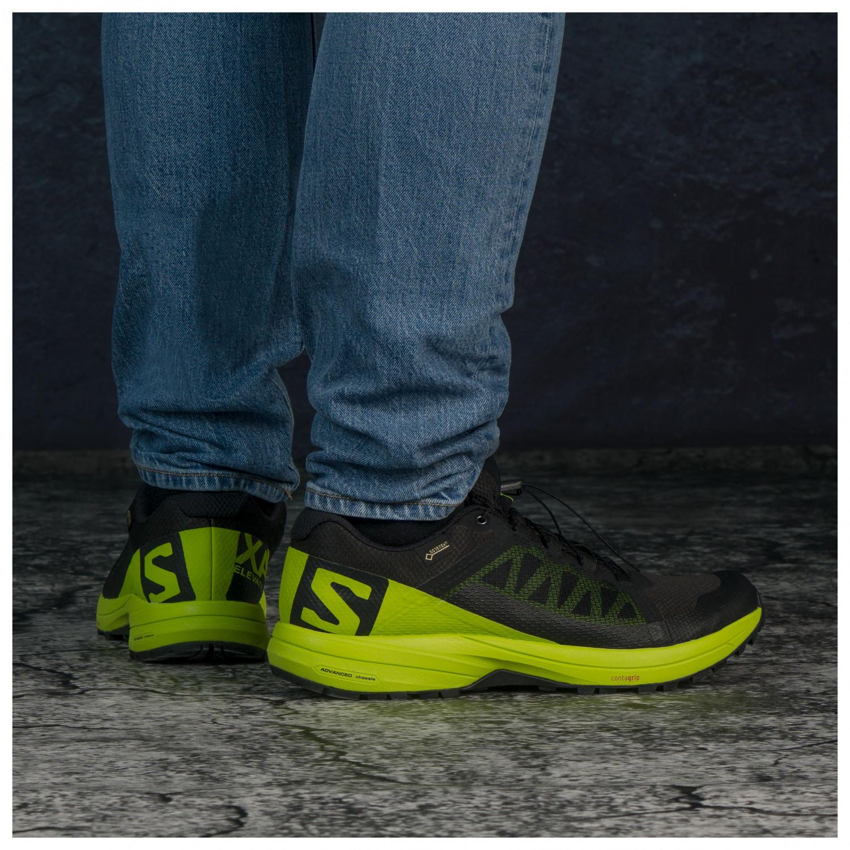 Salomon XA Elevate GTX Skor trailrunning Black Lime Green Black | 7,5 (UK)