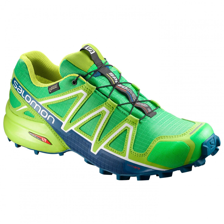 Salomon - Speedcross 4 GTX - Trailrunningschuhe Classic Green / Lime Green / Poseidon