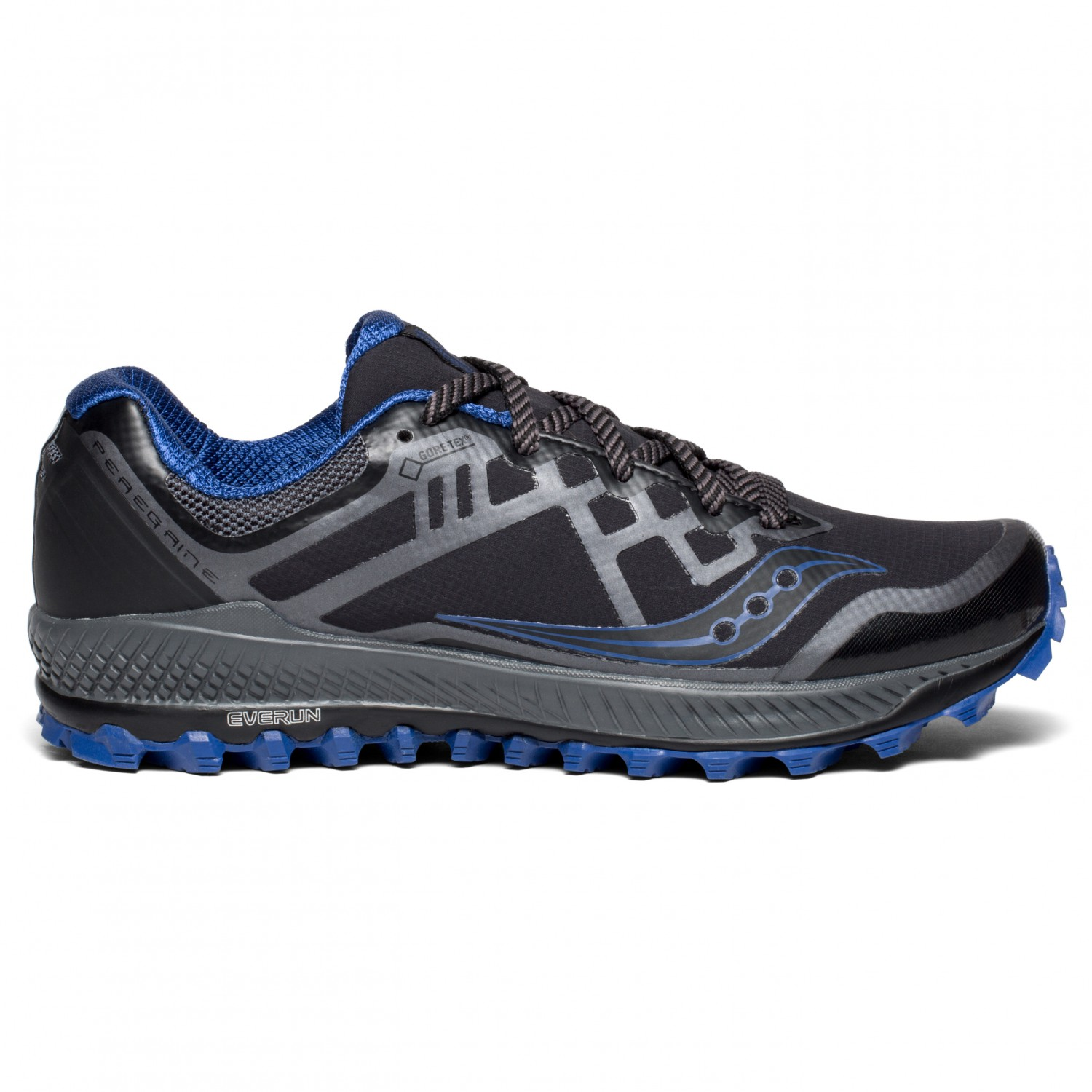 watch a7301 2ba73 Saucony - Peregrine 8 GTX - Scarpe per trail running - Black / Grey / Blue  | 8,5 (US)