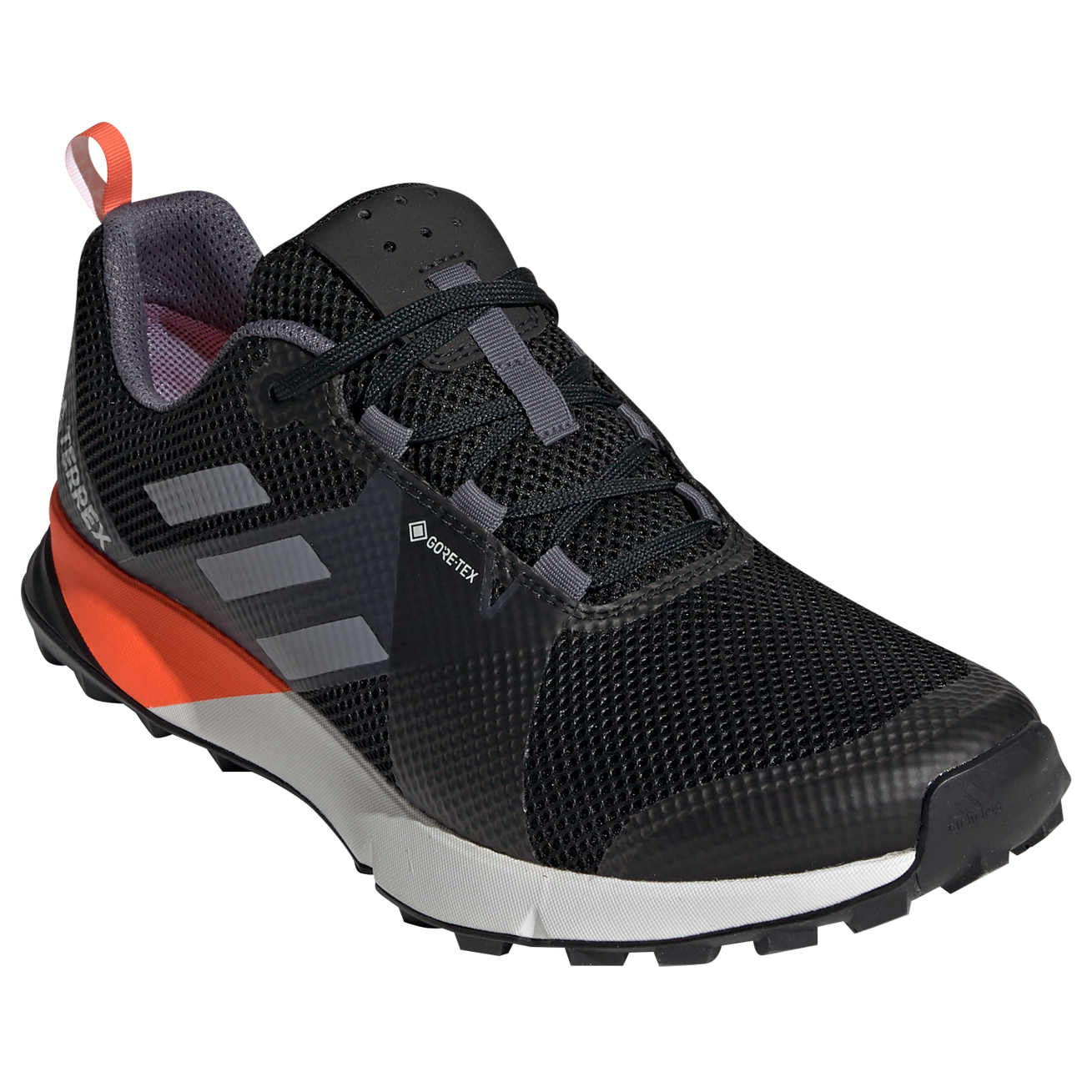 adidas Terrex Two GTX Trailrunningschuhe Core Black Grey Solar Orange | 12,5 (UK)