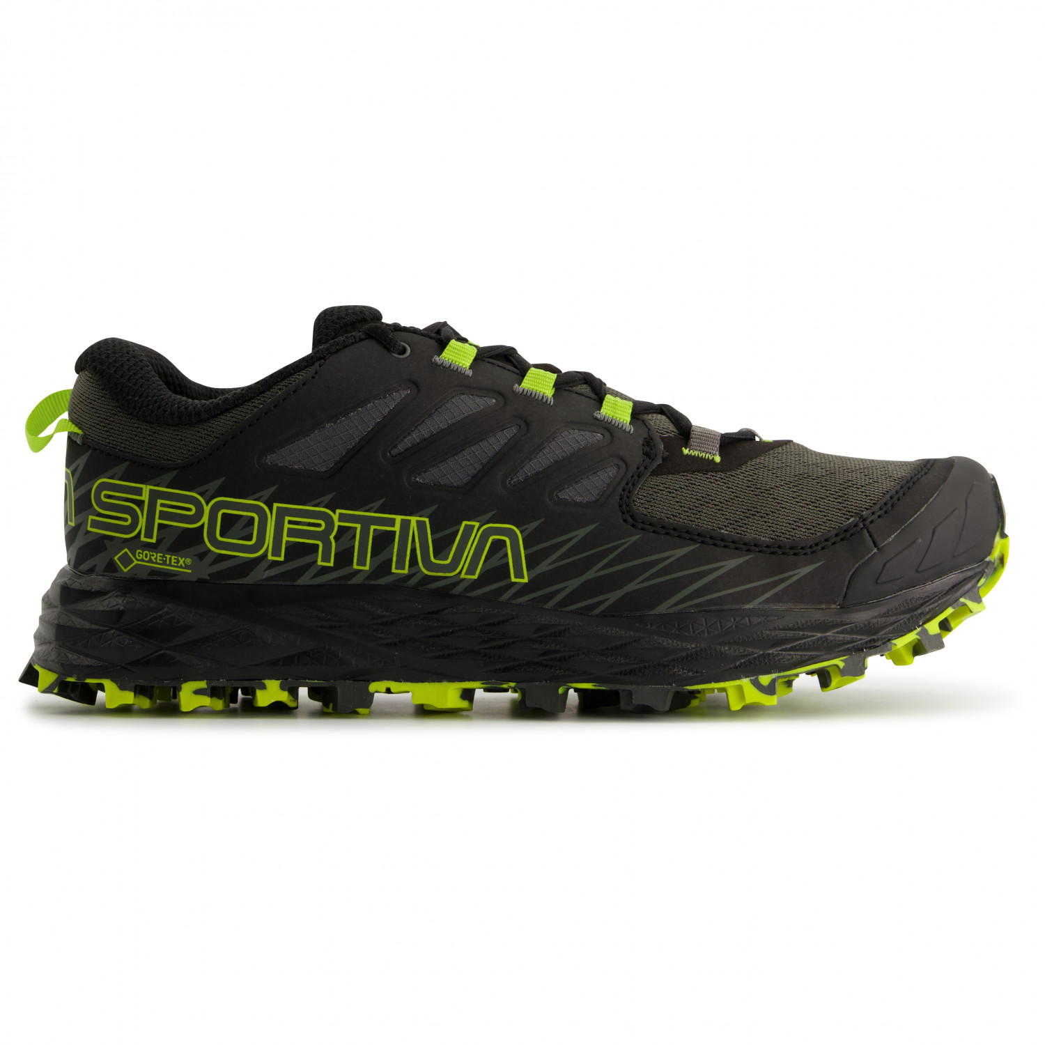 La Sportiva - Lycan GTX - Trail running shoes - Carbon   Apple Green  592f94983fc