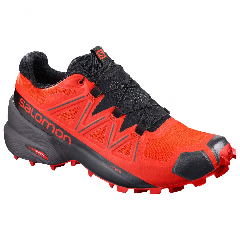 bas prix 90c11 22631 Salomon - Speedcross 5 GTX - Trail running shoes - Black / Urban Chic /  Cherry Tomato | 7 (UK)