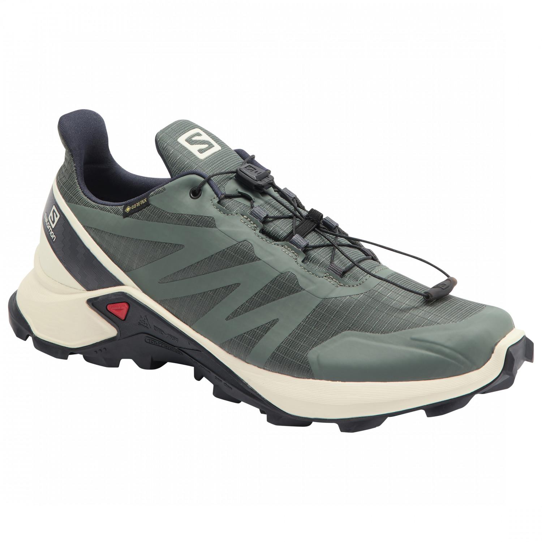 Salomon - Supercross GTX - Zapatillas de trail running - Balsam Green /  Vanilla Ice / India Ink | 11,5 (UK)