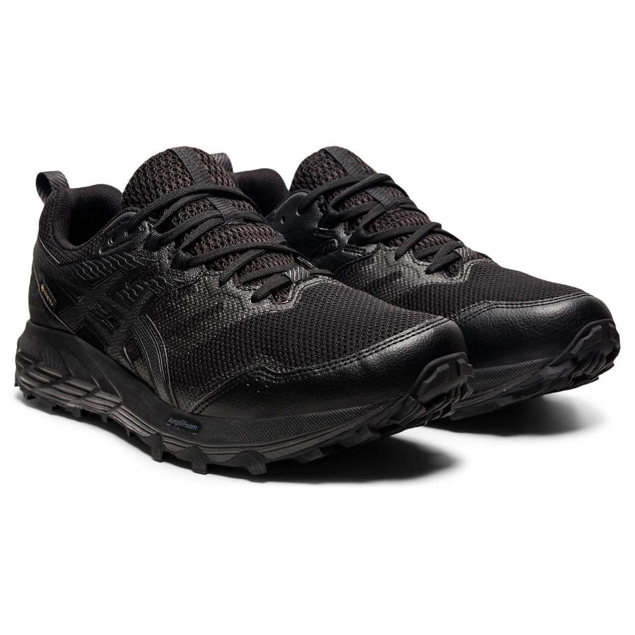 Asics - Gel-Sonoma 6 GTX - Trail running shoes - Black / Marigold Orange | 7,5 (US)