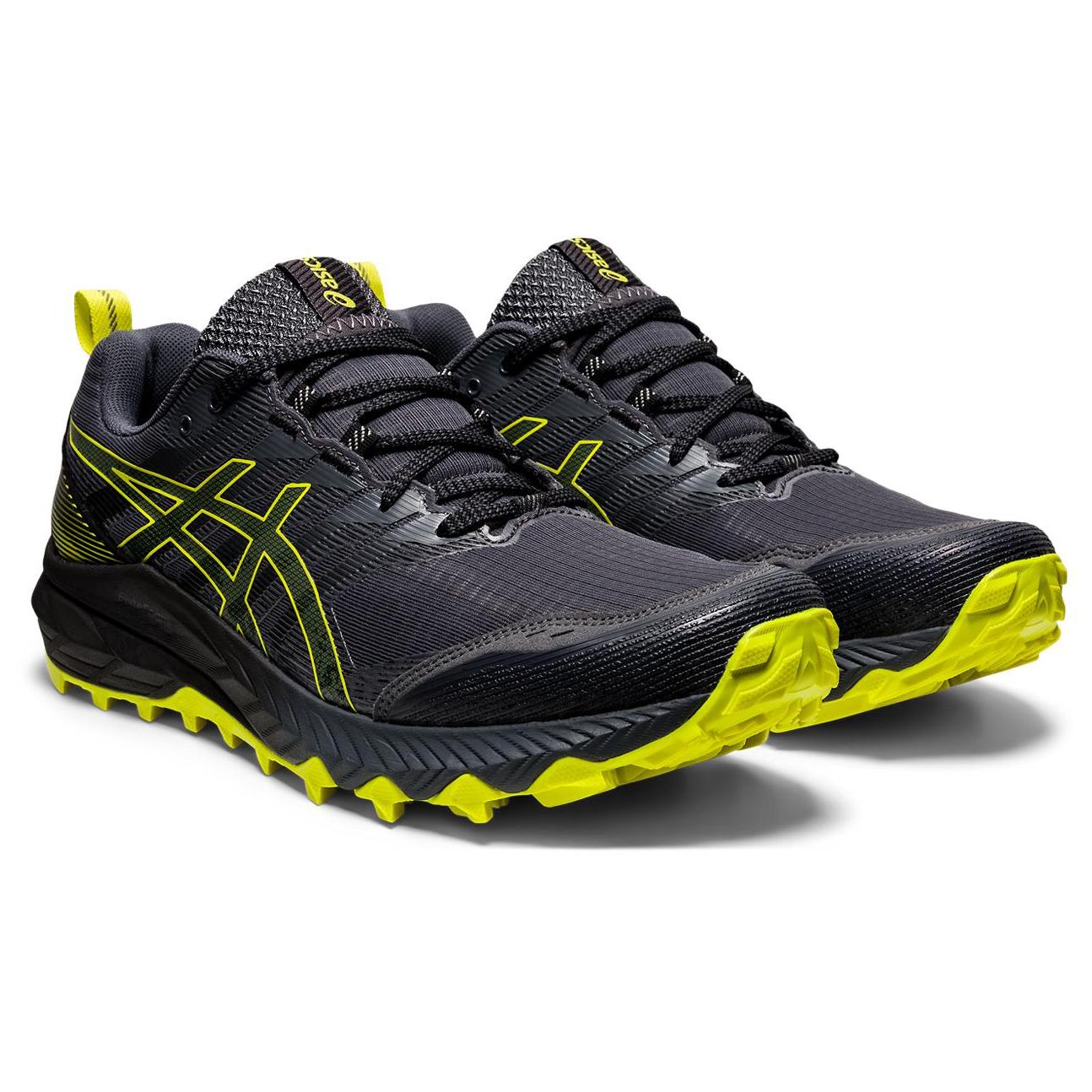 Asics - Gel-Trabuco 9 - Trail running shoes - Carrier Grey / Sour Yuzu | 8 (US)