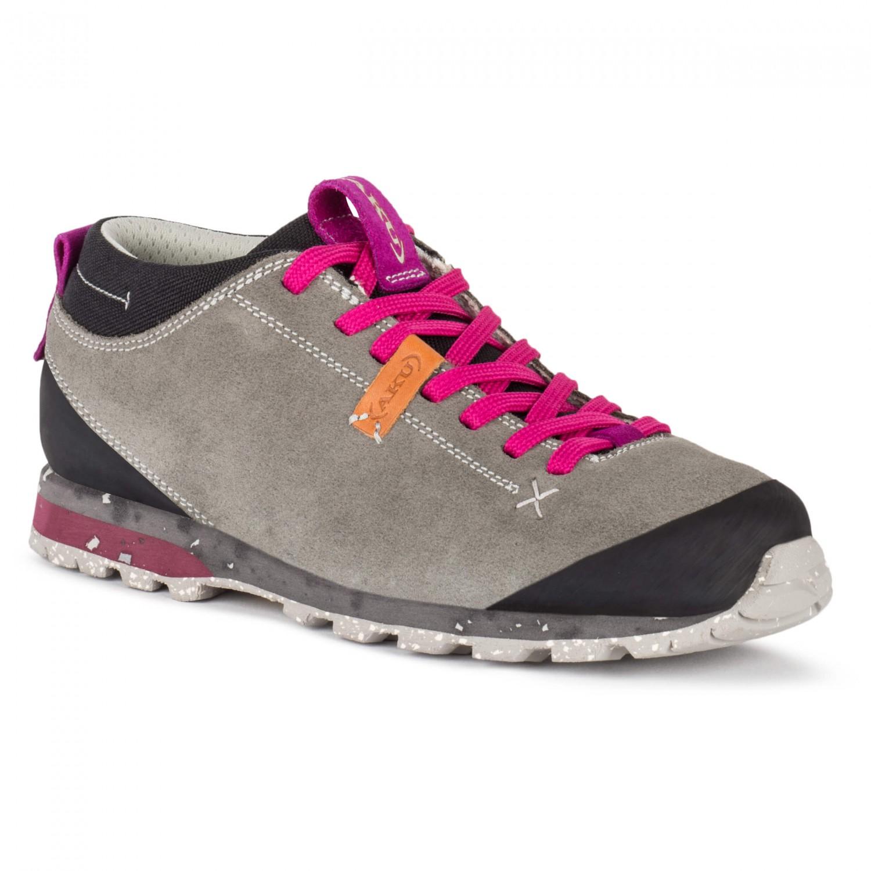 AKU - Bellamont Suede - Sneaker Light Grey / Magenta