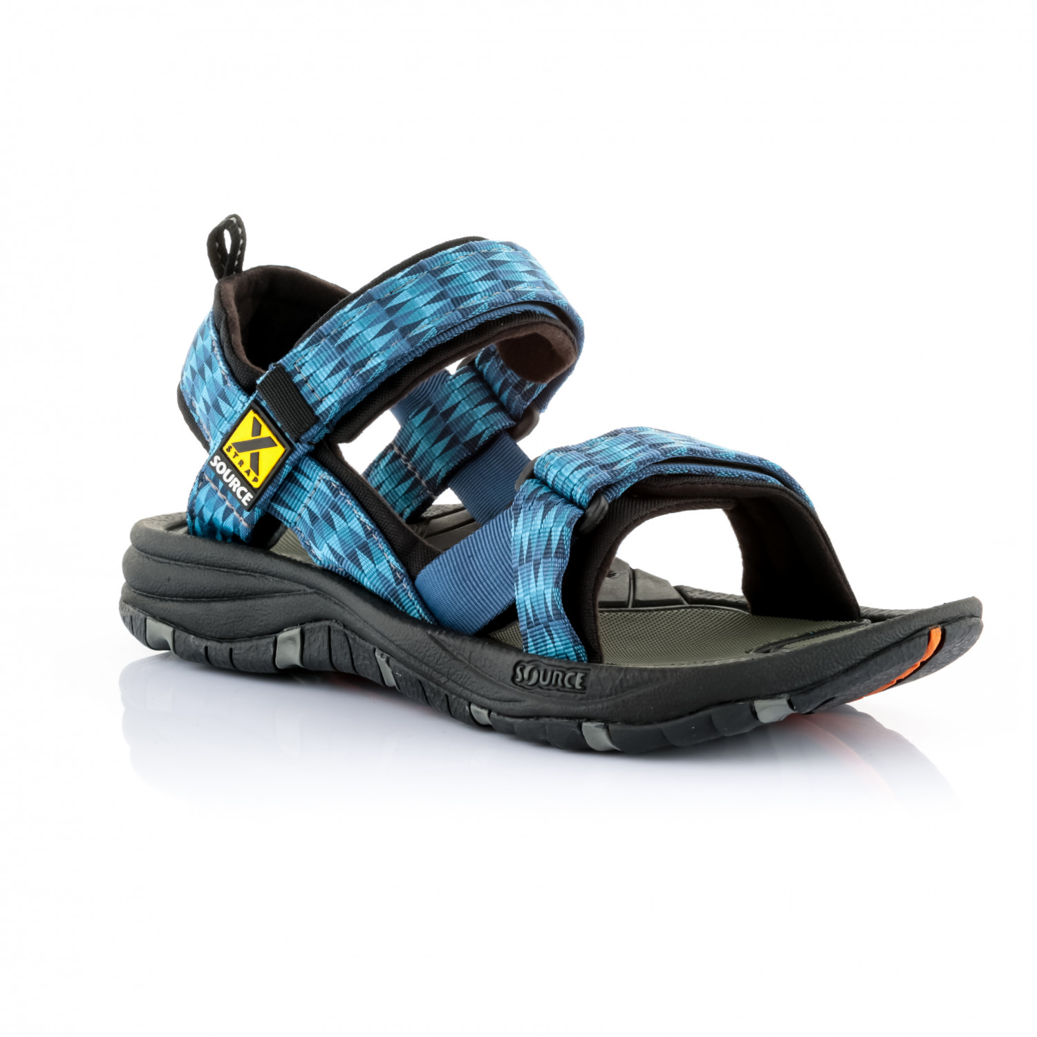 Source - Gobi - Sandalen Triangles Blue