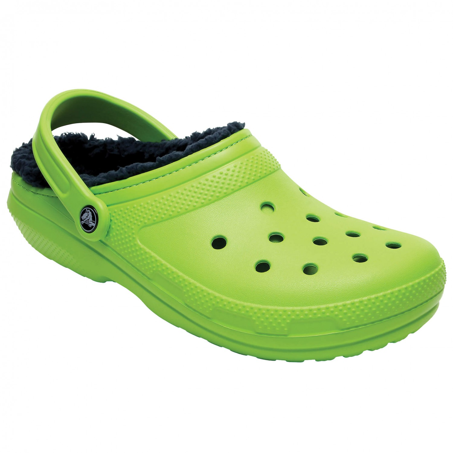 Crocs - Classic Lined Clog - Outdoorsandalen Volt Green / Navy