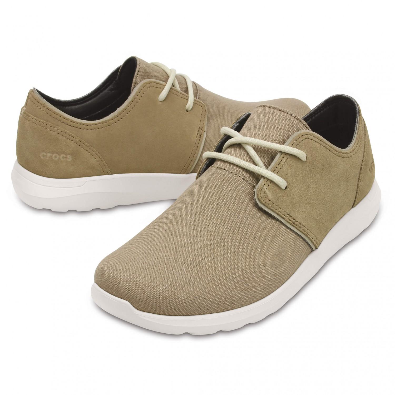 Crocs - Crocs Kinsale 2-Eye Shoe - Outdoorsandalen Khaki / Stucco