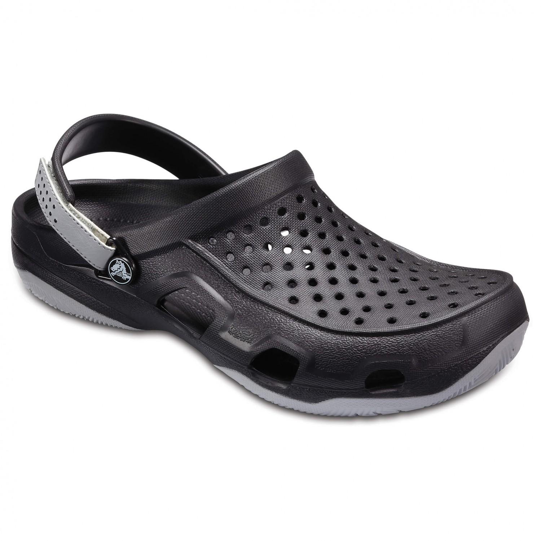 Crocs - Swiftwater Deck Clog - Outdoorsandalen Black / Light Grey