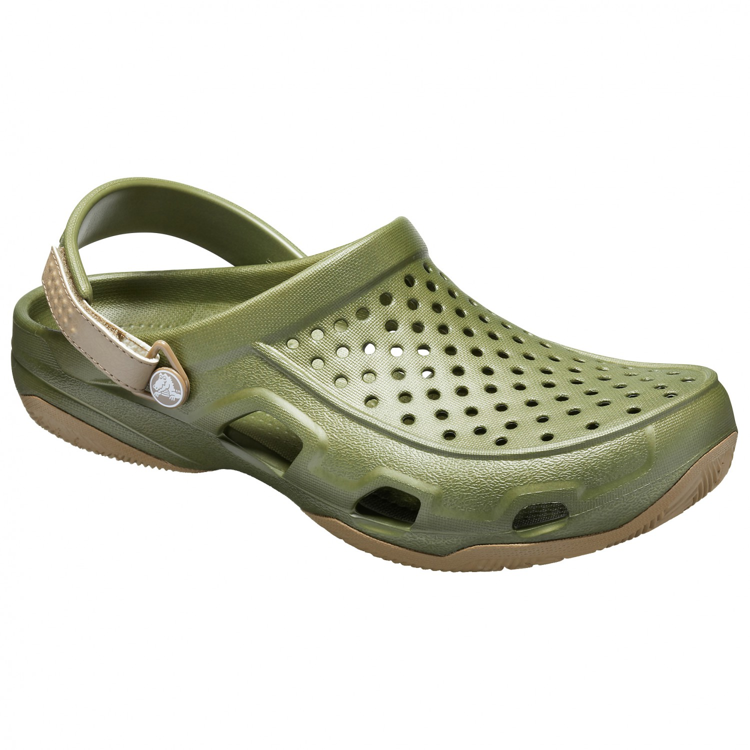 best loved e18c3 52593 Crocs - Swiftwater Deck Clog - Sandalen - Black / Light Grey | M10 (US)