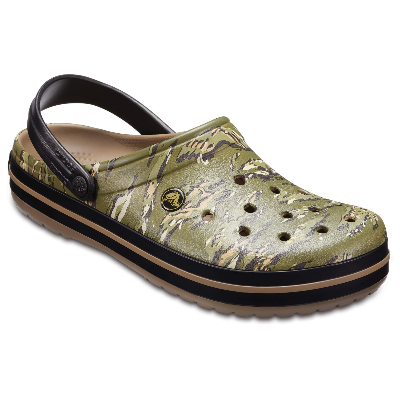 Crocs - Crocband Graphic Clog - Sandalen Dark Camo Green