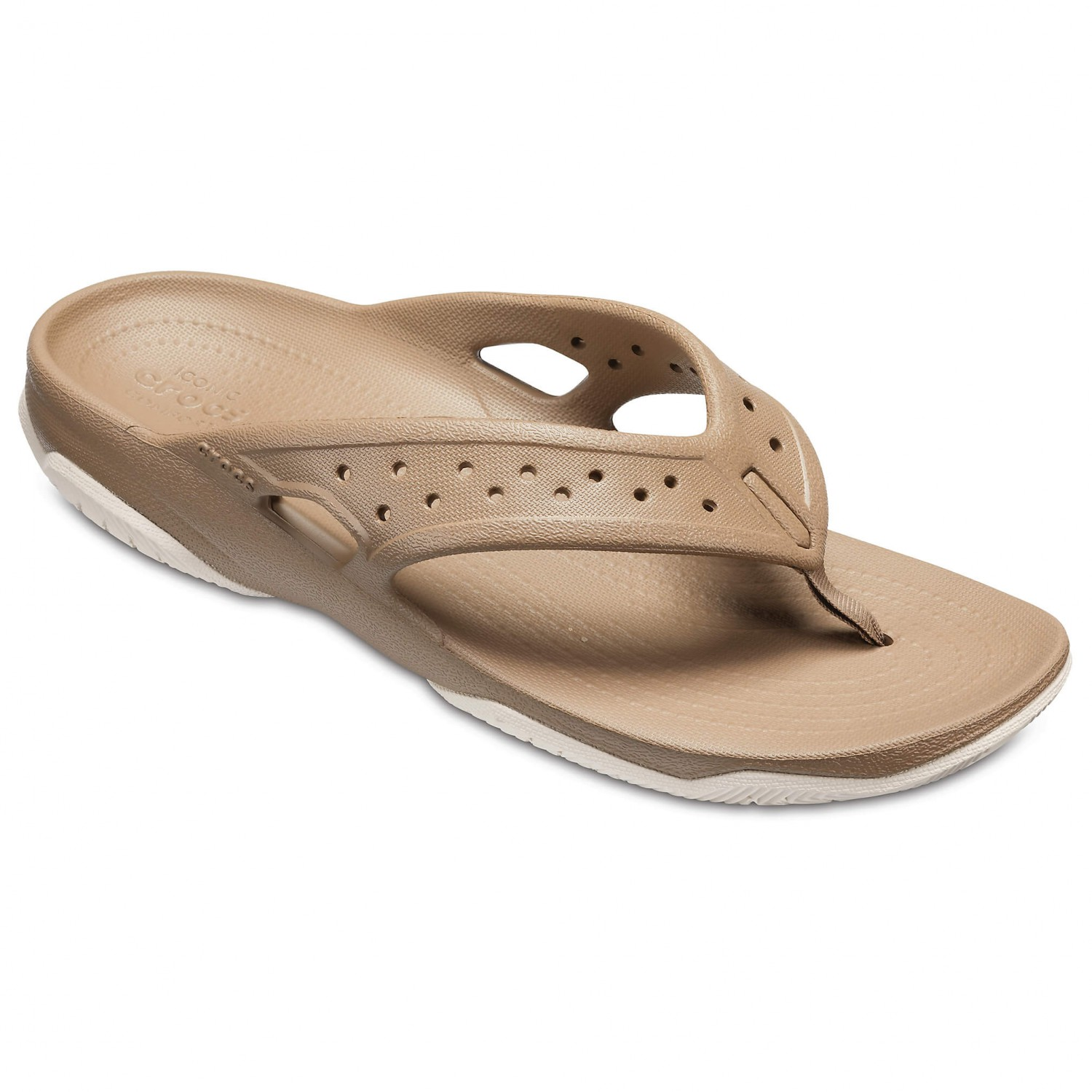 Crocs - Swiftwater Deck Flip - Sandalen Khaki / Stucco