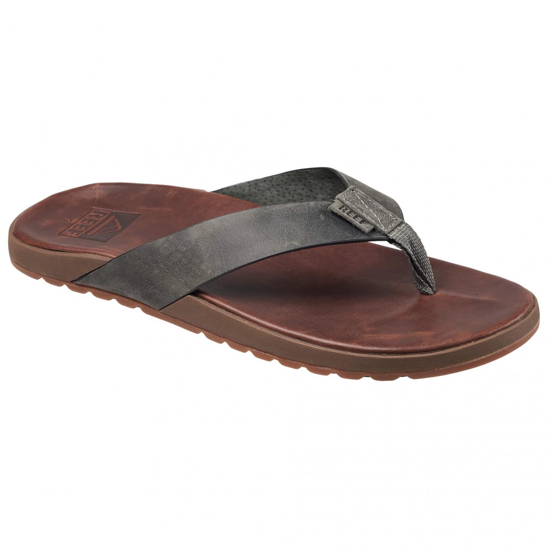 Reef - Contoured Voyage Leather - Sandalen Brown / Grey