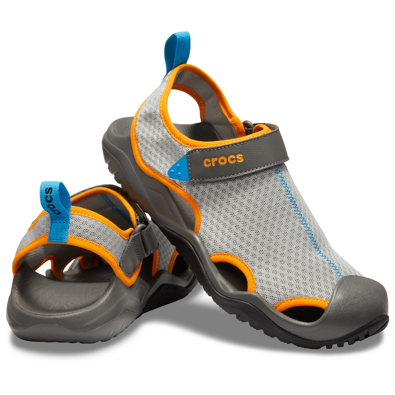 Crocs Swiftwater Mesh Deck Sandal Sandalen Espresso | M11 (US)