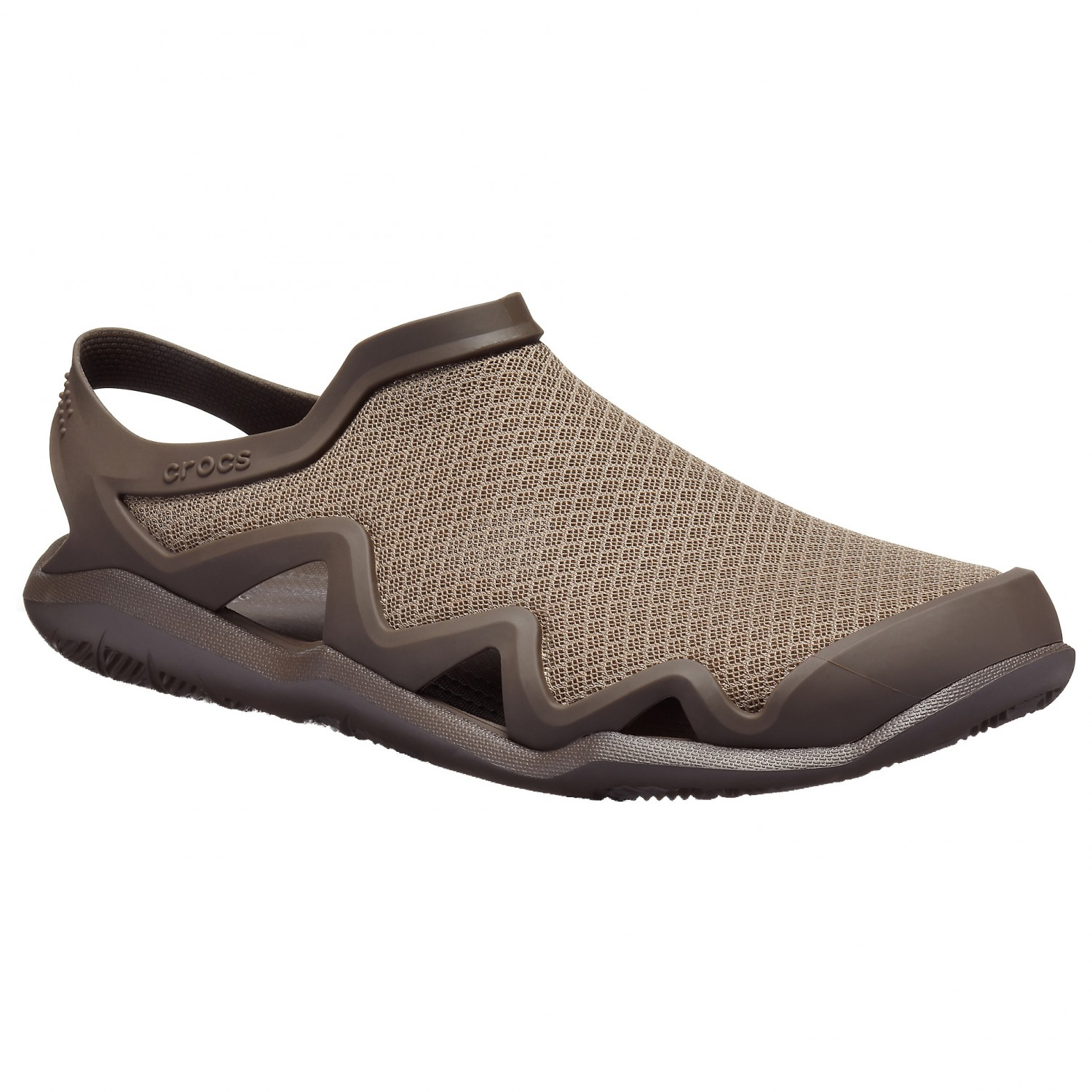 Crocs Swiftwater Mesh Wave Sandals Army Green Slate Grey | M10 (US)