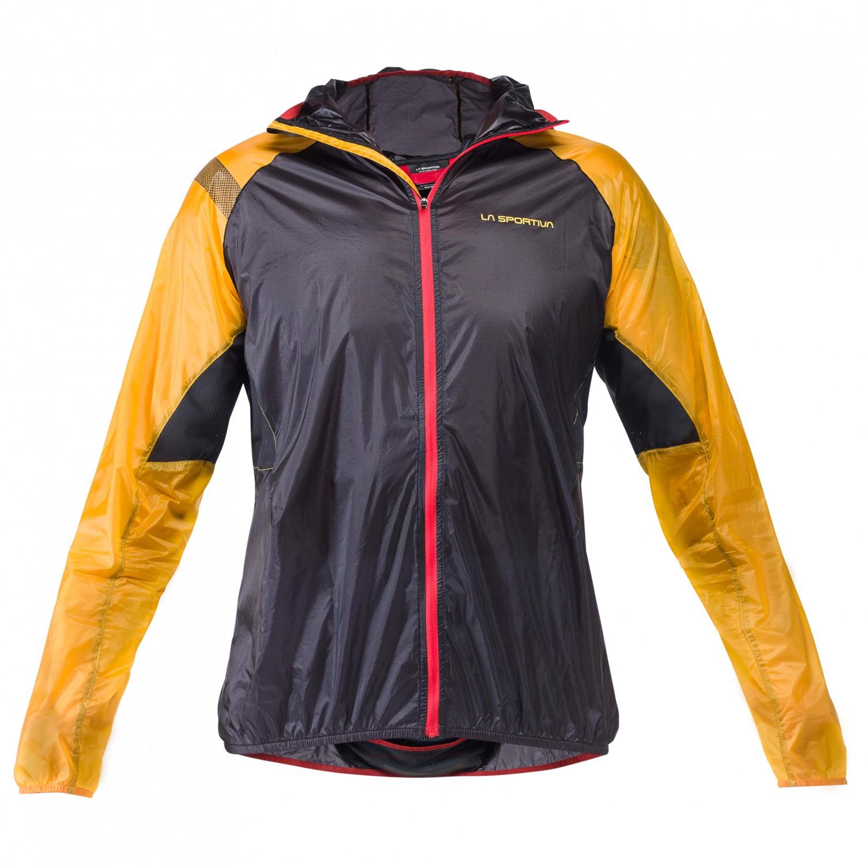 size 40 genuine shoes nice cheap La Sportiva - Blizzard Windbreaker Jacket - Running jacket - Black / Yellow  | S