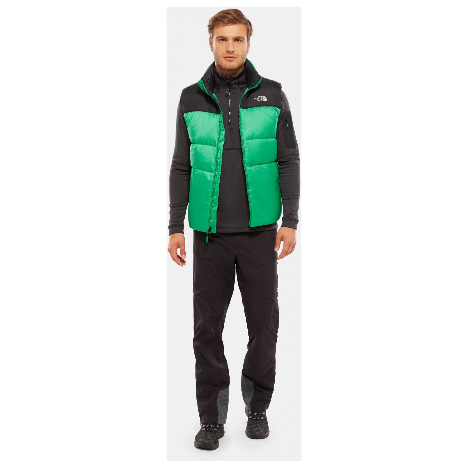cc837e3e0 The North Face - Nuptse III Vest - Down vest - Primary Green / TNF Black |  XS
