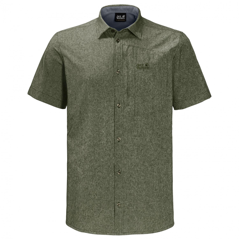T Shirt Overhemd.Jack Wolfskin Barrel Shirt Overhemd Heren Gratis Verzending