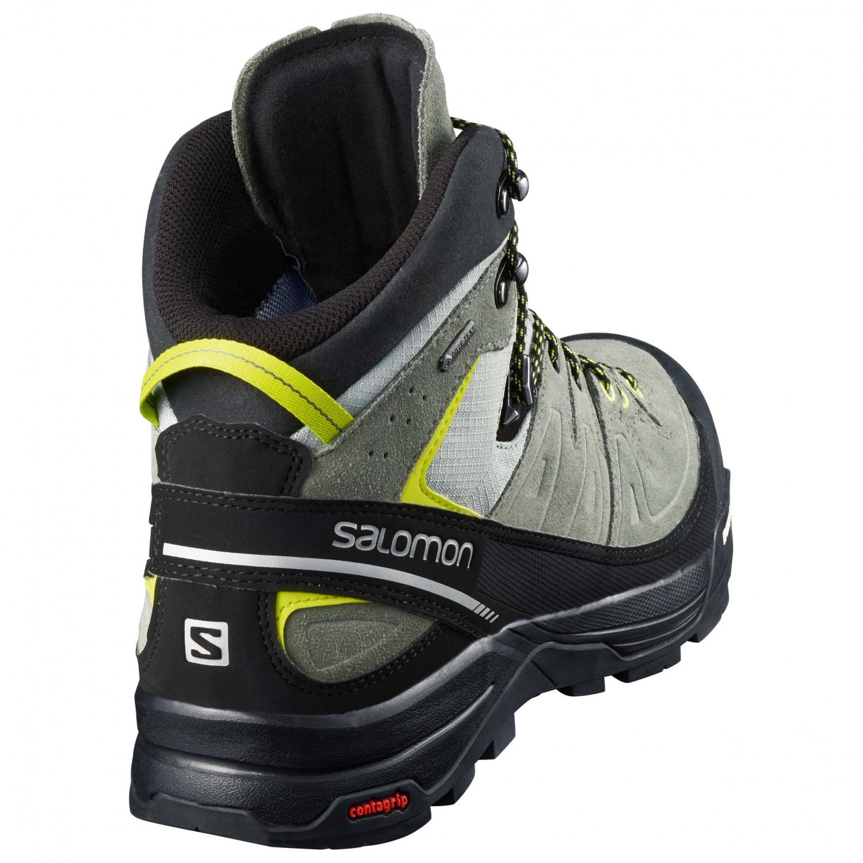 matériaux de qualité supérieure magasin officiel nouveau sommet Salomon - X Alp Mid Leather GTX - Chaussures de montagne - Green Sulphur /  Vintage Kaki / Black   8,5 (UK)
