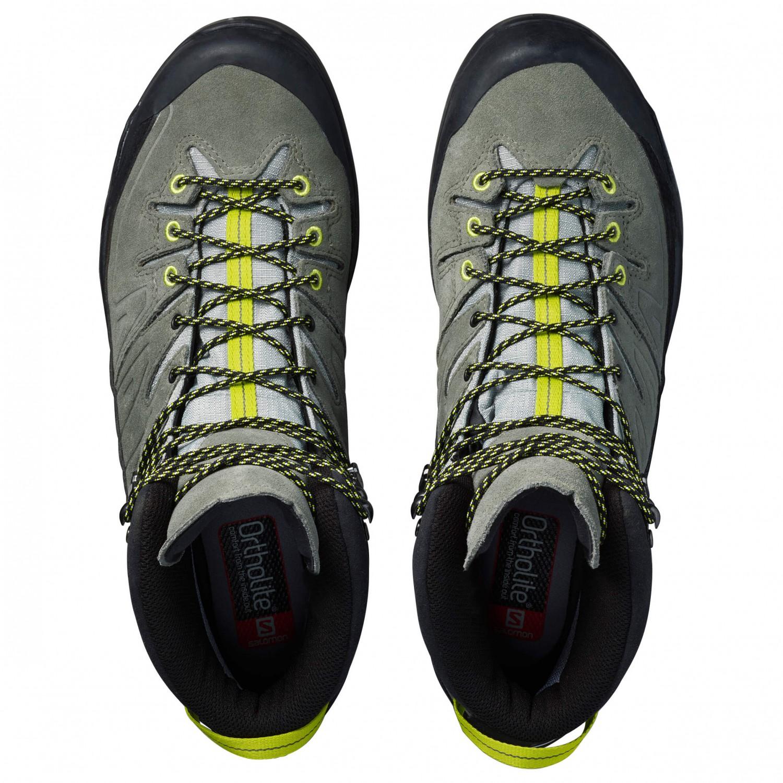 online retailer 2798c 27a90 Salomon - X Alp Mid Leather GTX - Mountaineering boots - Green Sulphur /  Vintage Kaki / Black | 10 (UK)