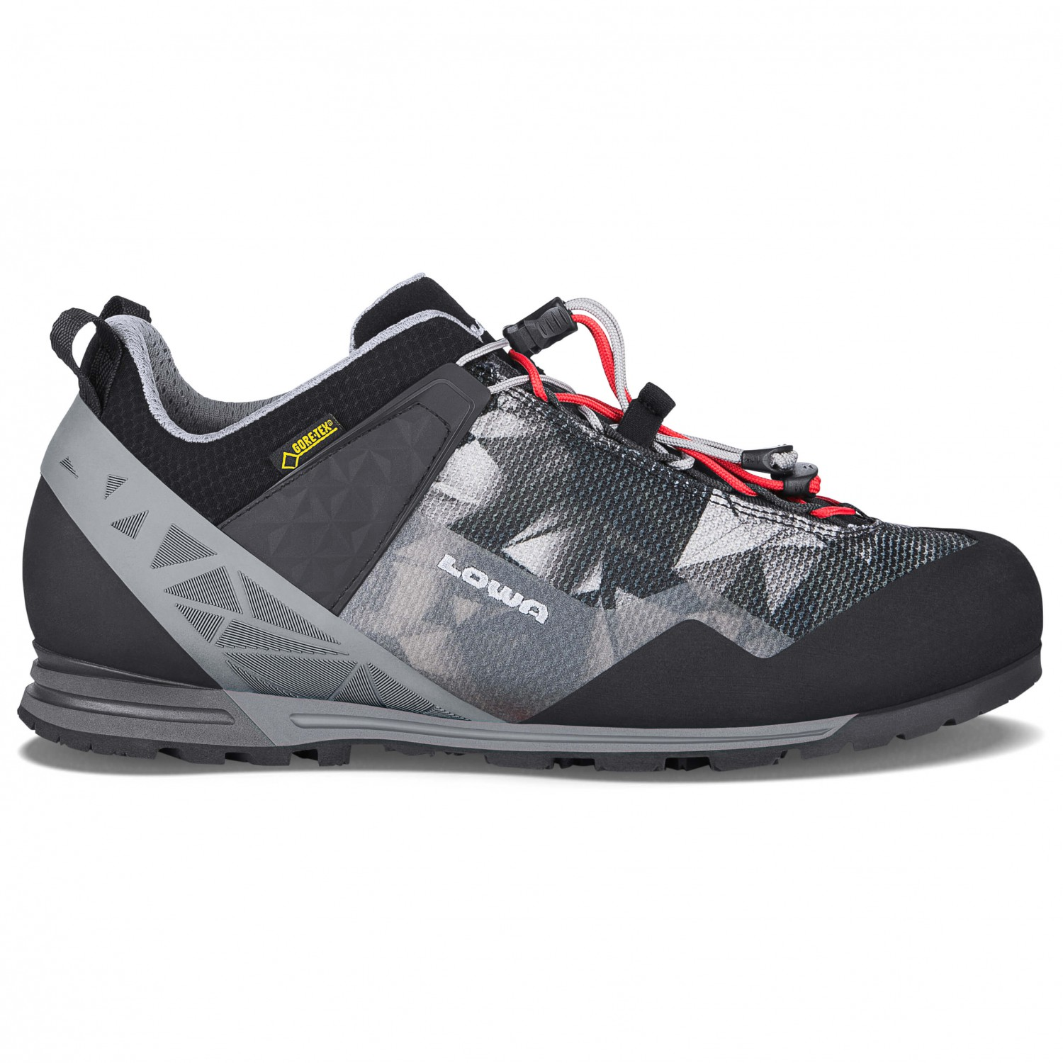 Lowa Approach Pro GTX Lo Approachschuhe Anthrazit Limone | 9,5 (UK)  spare mehr
