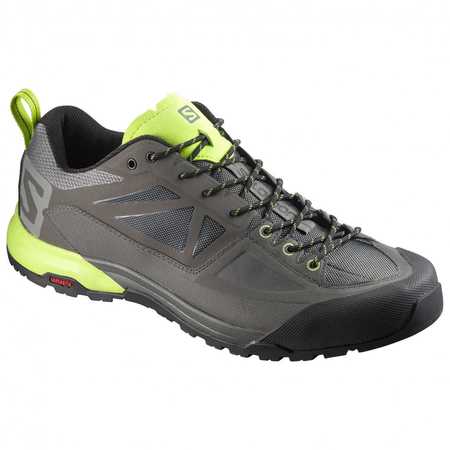 X ALP SPRY - Hikingschuh - castor gray/beluga/lime punch VPIpXOu