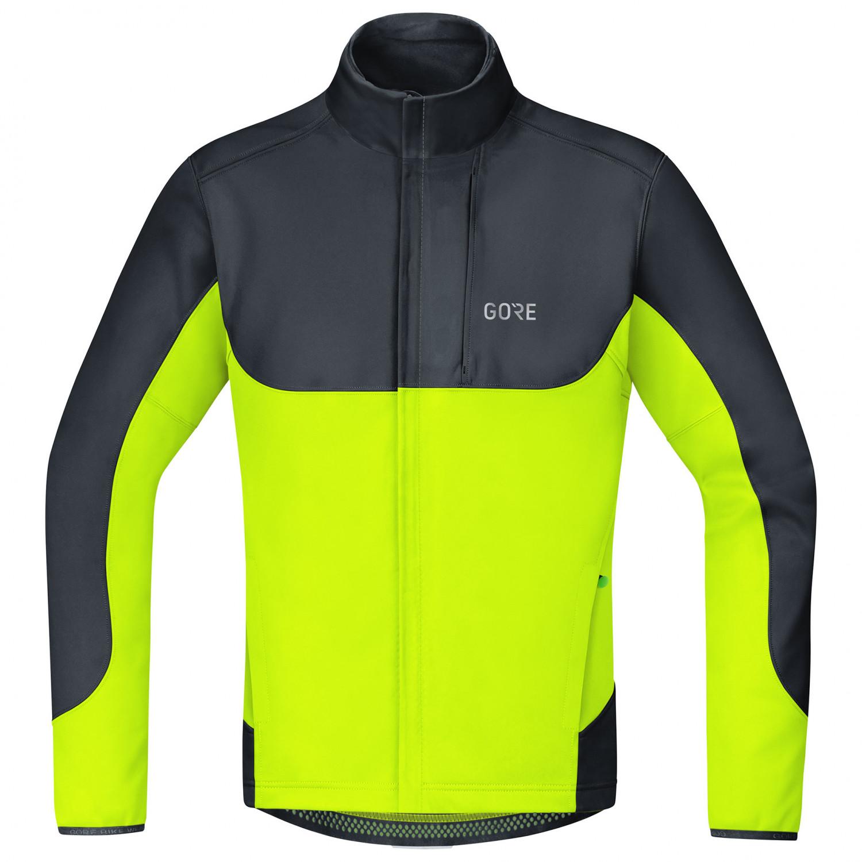 GORE Wear C5 Gore Windstopper Thermo Trail Jacket Fahrradjacke Black Neon Yellow   M