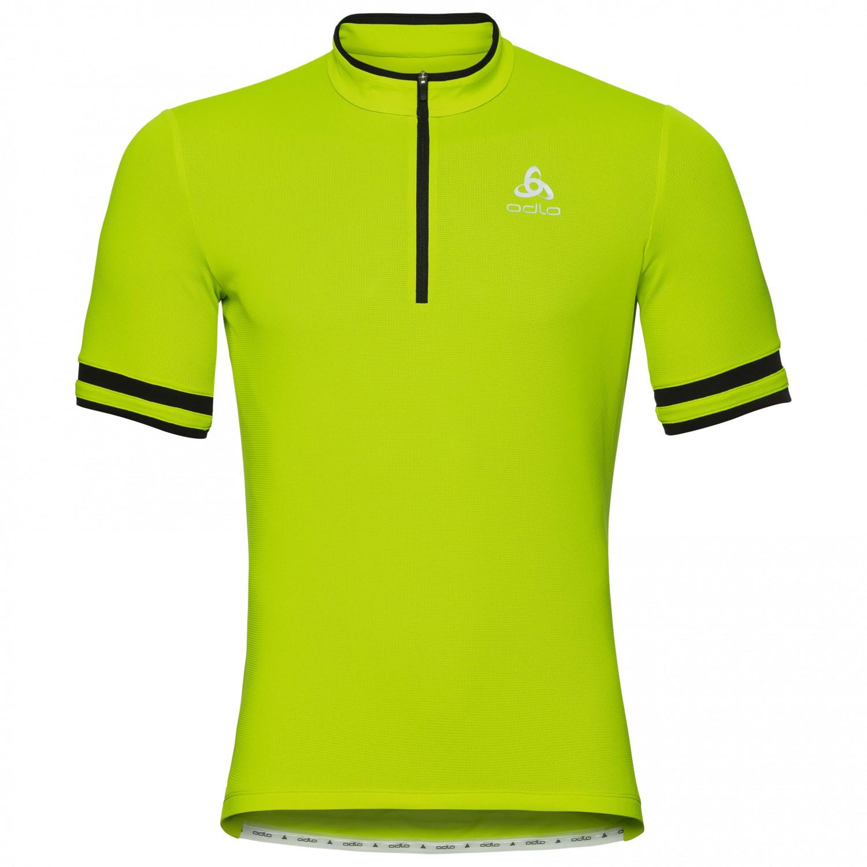 ODLO Mens Stand-up Collar S//S 1//2 Zip Element Shirt