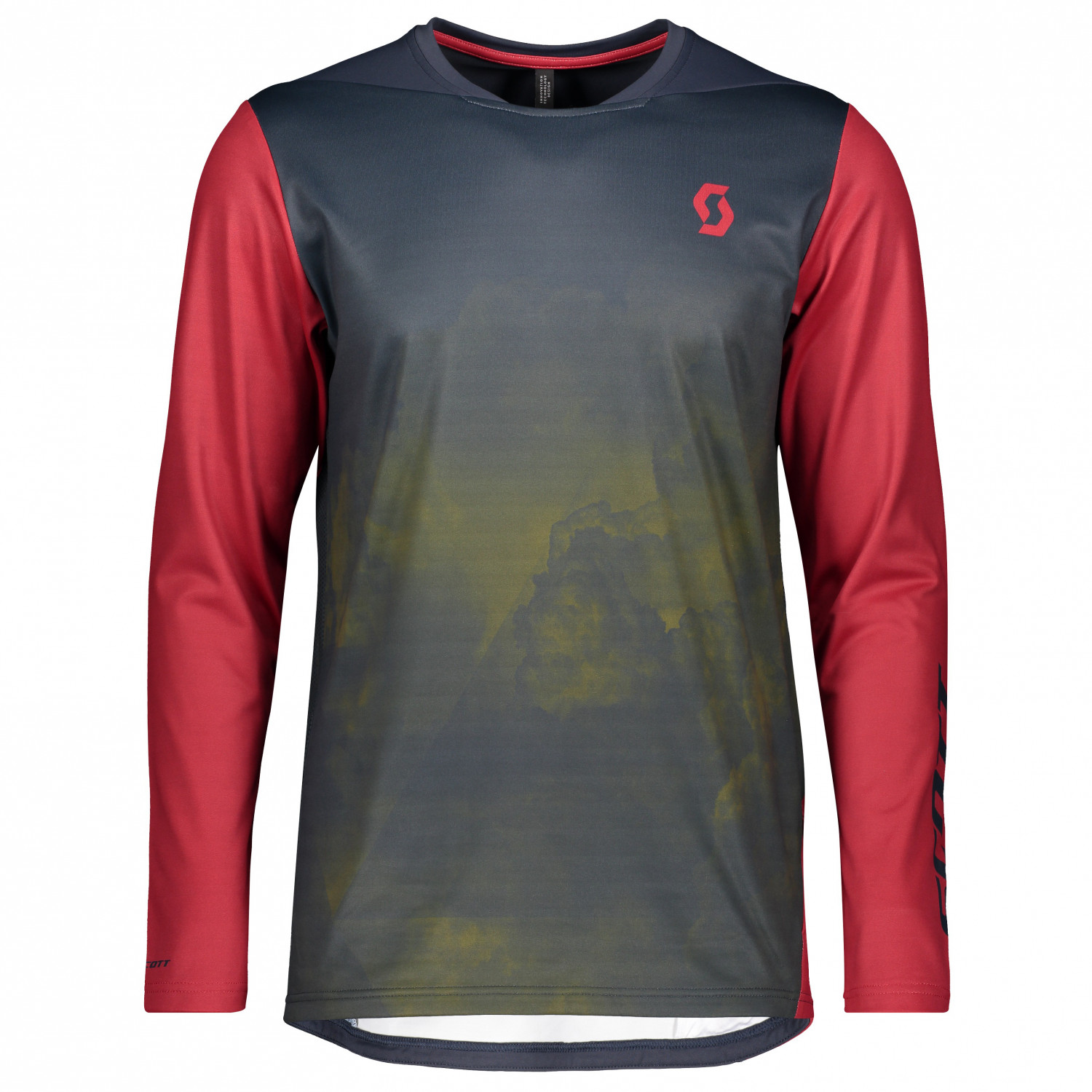 Red Scott Trail AS Long Sleeve Mens Cycling Jersey