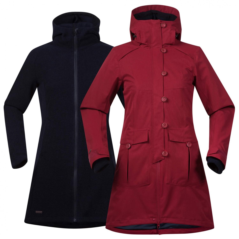 bergans bjerke 3in1 coat lang jakke dame med fri frakt. Black Bedroom Furniture Sets. Home Design Ideas