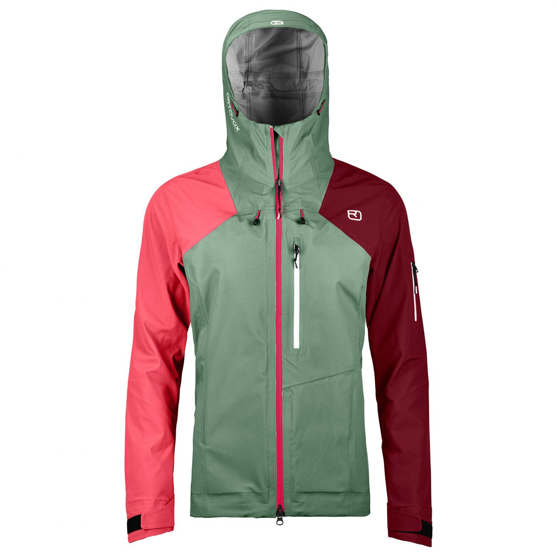 IsarXs Women's Ortler Jacket 3l Green Regenjacke Ortovox iOTXPuZwk
