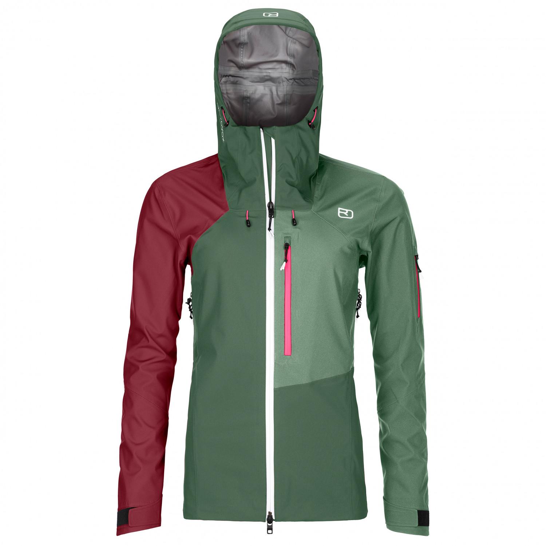 Ortovox Women's 3L Ortler Jacket Regenjacke Green Forest | XS